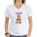Garfield Learning by Osmosis Women's V-Neck T-Shir