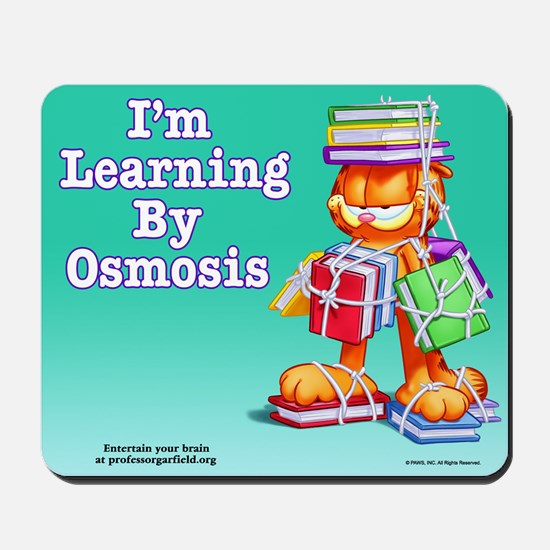 Garfield Learning by Osmosis Mousepad