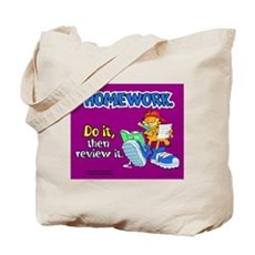 Homework, Do it, Review it Tote Bag