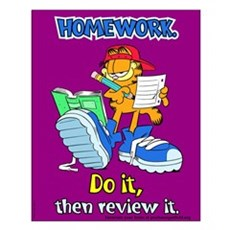 Homework, Do it, Review it Small Poster