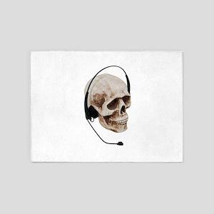 HeadphoneSkull042109 5'x7'Area Rug