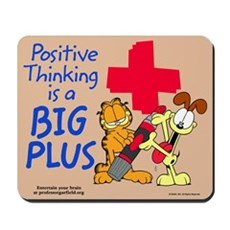 Positive Thinking Garfield Mousepad