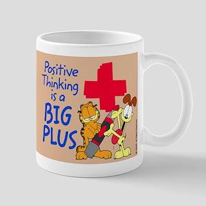 Positive Thinking Garfield Mug