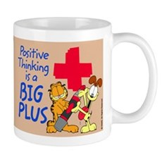 Positive Thinking Garfield Mug