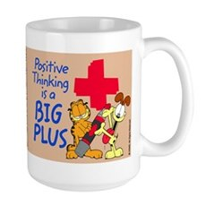 Positive Thinking Garfield Large Mug