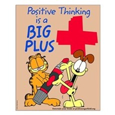 Positive Thinking Garfield Small Poster