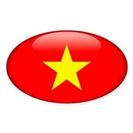 Viet Nam Oval Sticker (10 pk)