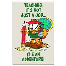 It's an Adventure Garfield Large Poster