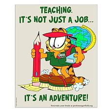 It's an Adventure Garfield Small Poster