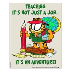 It's an Adventure Garfield Small Poster
