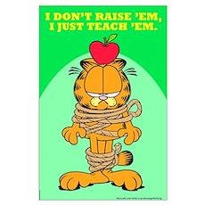 Teach 'em Garfield Large Poster
