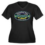 Survivor Mom Women's Plus Size V-Neck Dark T-Shirt