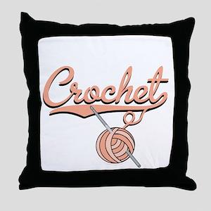 Knitter Throw Pillow