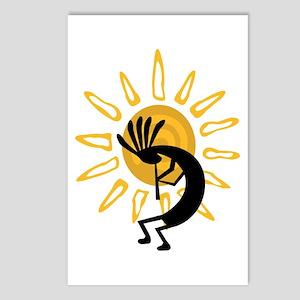 Hopi Kokopelli Gold Postcards (Package of 8)