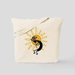 Hopi Kokopelli Gold Tote Bag