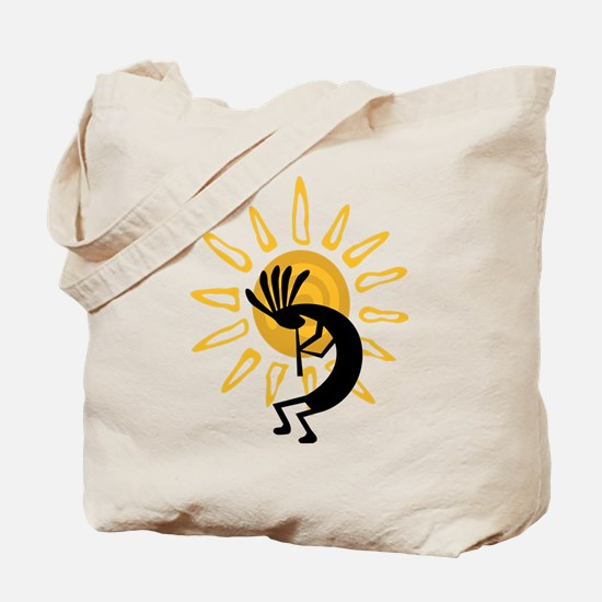 Hopi Kokopelli Gold Tote Bag