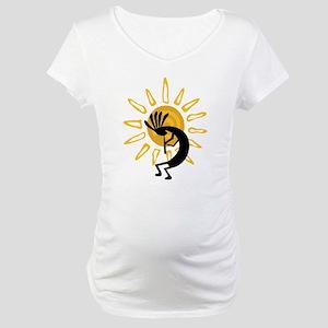 Hopi Kokopelli Gold Maternity T-Shirt