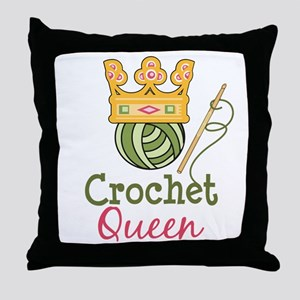 Crochet Queen Throw Pillow