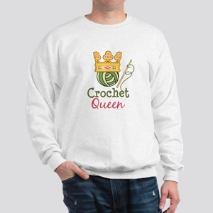 Crochet Queen Sweatshirt