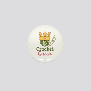 Crochet Queen Mini Button