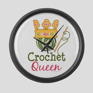 Crochet Queen Large Wall Clock