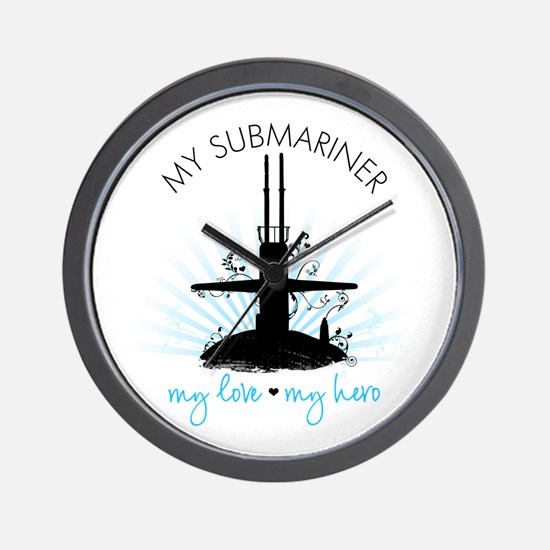 My Submariner My Love Wall Clock