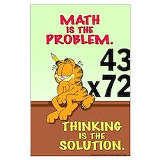 Math Problem Garfield Large Poster