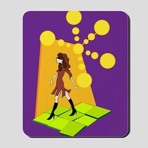 Retro Hipster Girl Mousepad