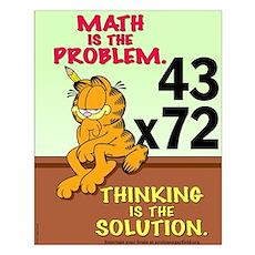 Math Problem Garfield Small Poster