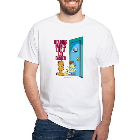 Reading Makes Life Easier White T-Shirt