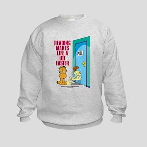 Reading Makes Life Easier Kids Sweatshirt