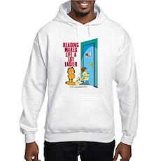 Reading Makes Life Easier Hooded Sweatshirt