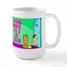 Reading Makes Life Easier Large Mug