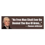 The Use Of Arms... Bumper Sticker (50 pk)
