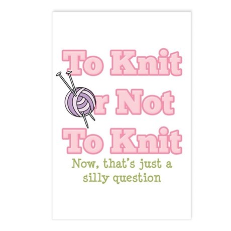 To Knit Or Not To Knit Postcards (Package of 8)