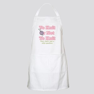 To Knit Or Not To Knit BBQ Apron