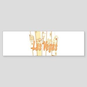 Las Vegas Retro Abstract Bumper Sticker