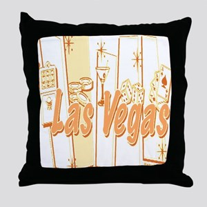Las Vegas Retro Abstract Throw Pillow