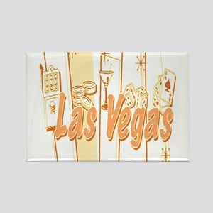 Las Vegas Retro Abstract Rectangle Magnet