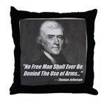 The Use Of Arms... Throw Pillow