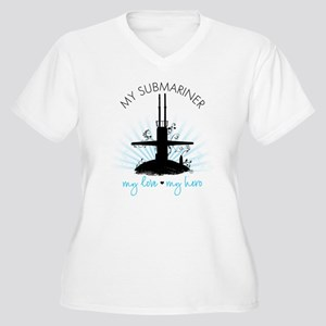 My Submariner My Love Women's Plus Size V-Neck T-S