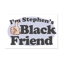 Stephen's Black Friend Mini Poster Print