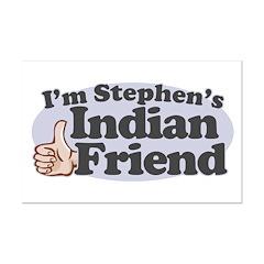 Stephen's Indian Friend Mini Poster Print