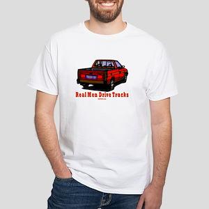 Real Men Drive Trucks White T-Shirt