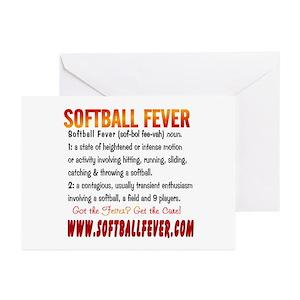 Fastpitch softball greeting cards cafepress m4hsunfo