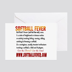 Fastpitch softball greeting cards cafepress meaning of softball fever greeting cards package m4hsunfo Images
