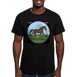 Hanoverian Sport Horse Men's Fitted T-Shirt (dark)