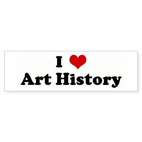 I Love Art History Bumper Sticker