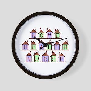 Home Health Nurse Houses Wall Clock