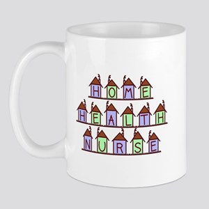 Home Health Nurse Houses Mug